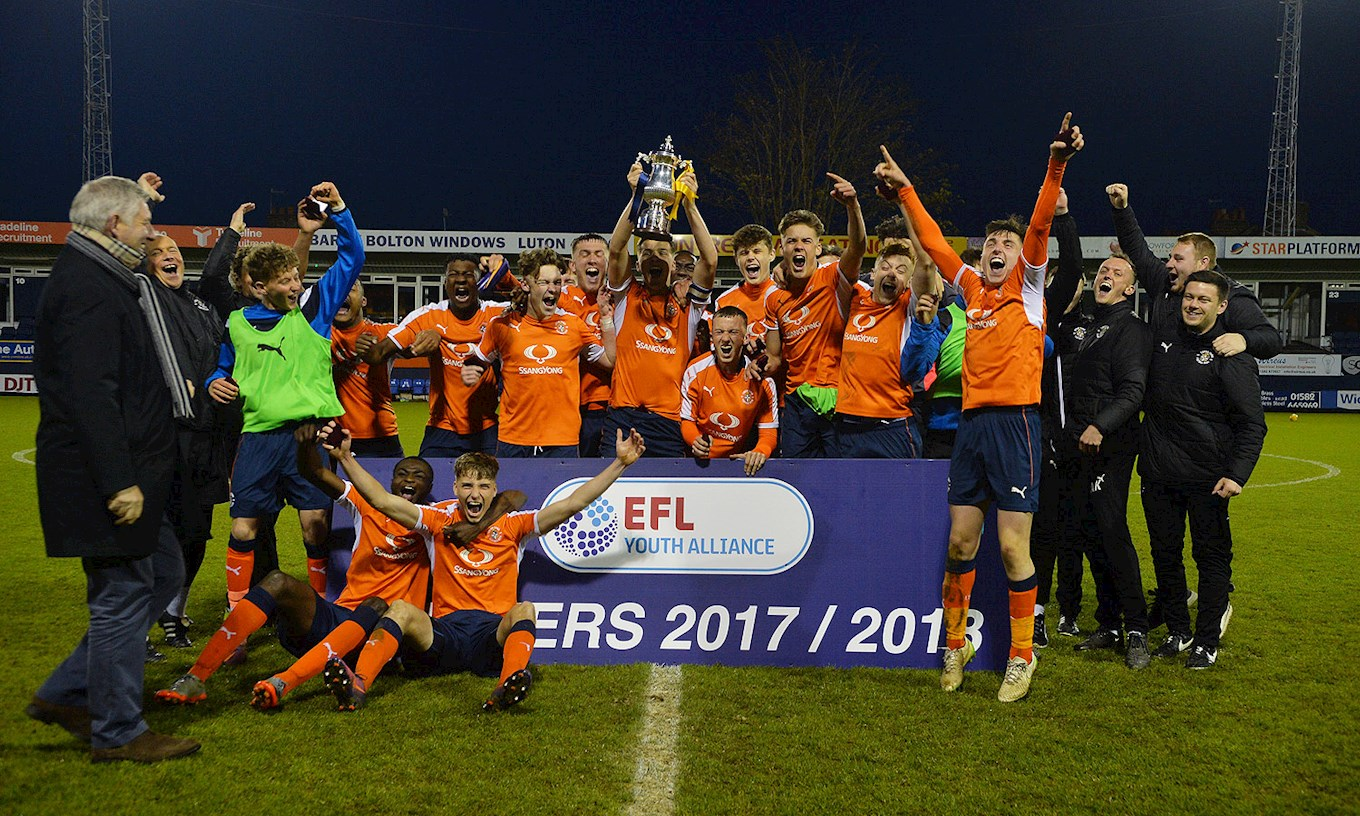 As an Under-16, Sam was part of the Hatters U18s EFL Youth Alliance Cup final win over Wigan at Kenilworth Road