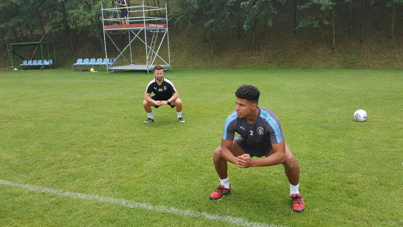 James Justin continues his return to full training with Jared Roberts-Smith in Slovenia