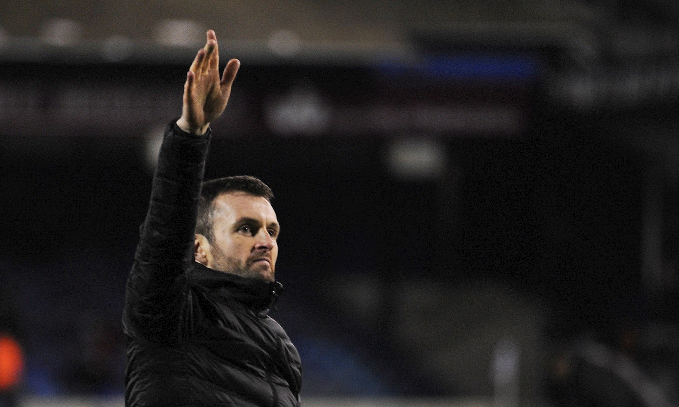 Hatters boss Nathan Jones after the 2-0 home win over Grimsby on December 23rd