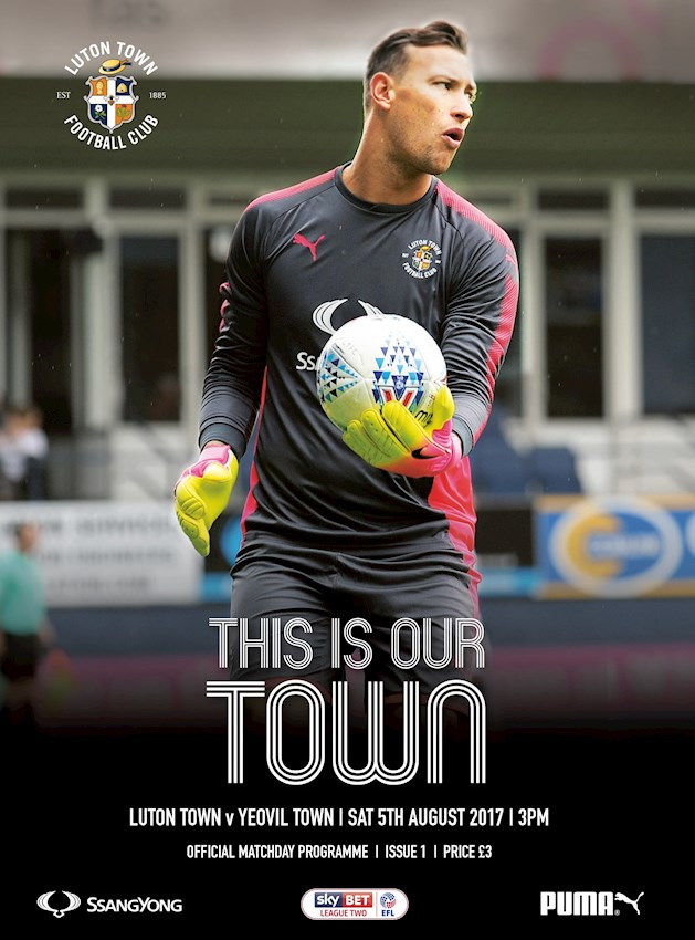New signing Marek Stech is on the front cover of the matchday programme for the Yeovil game
