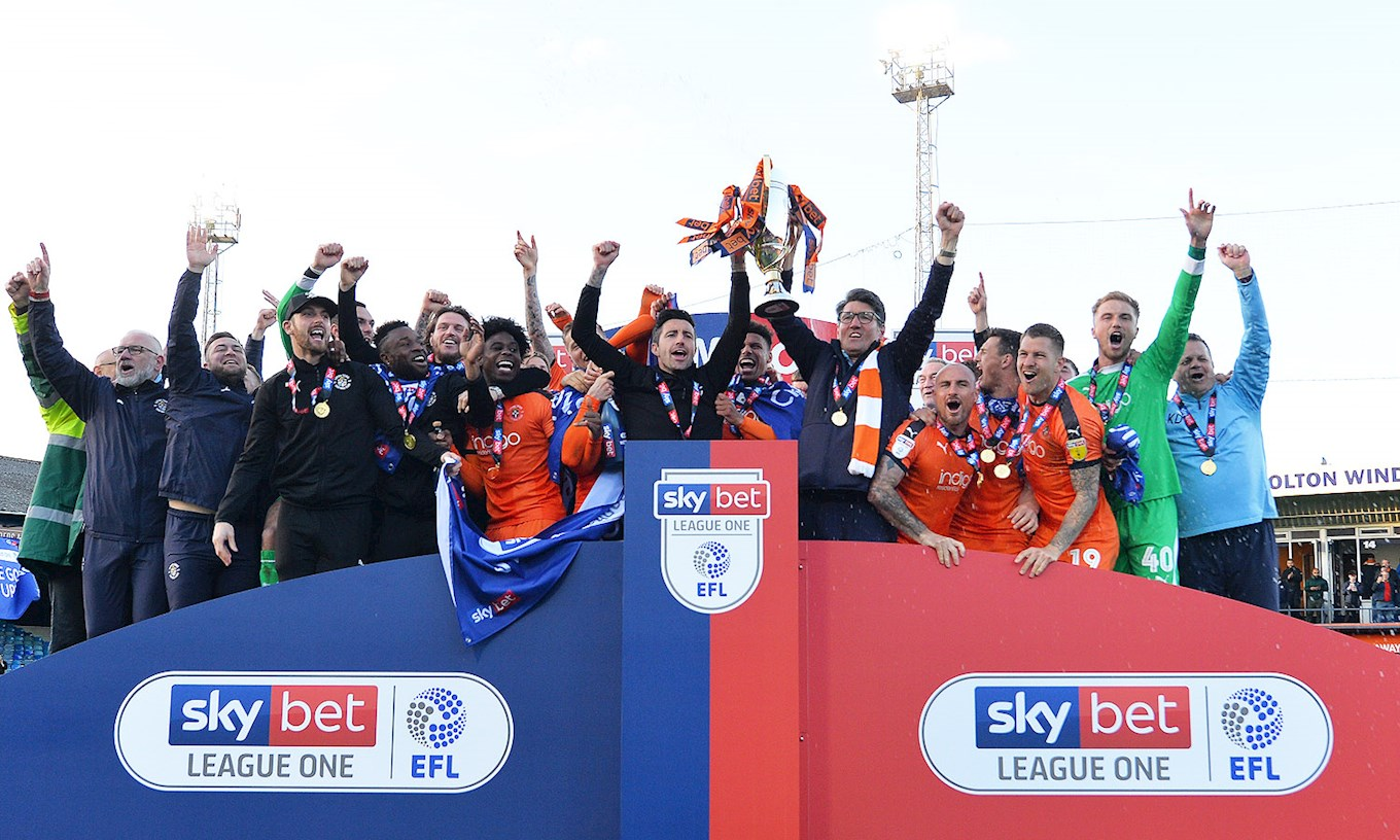 The Hatters lift the League One title after a 3-1 home win over Oxford