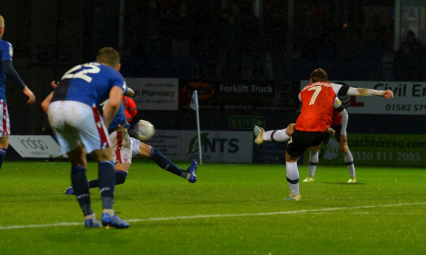 A different angle of Callum McManaman netting his second goal of the season against Forest