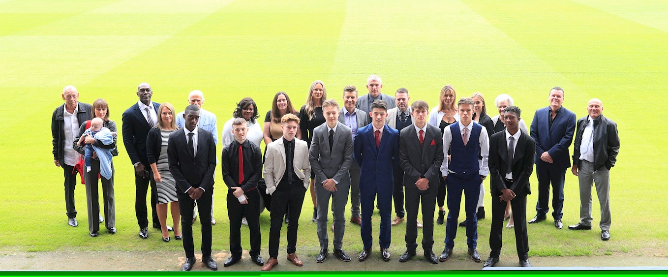 The new intake of first year scholars are pictured at Kenilworth Road with their parents