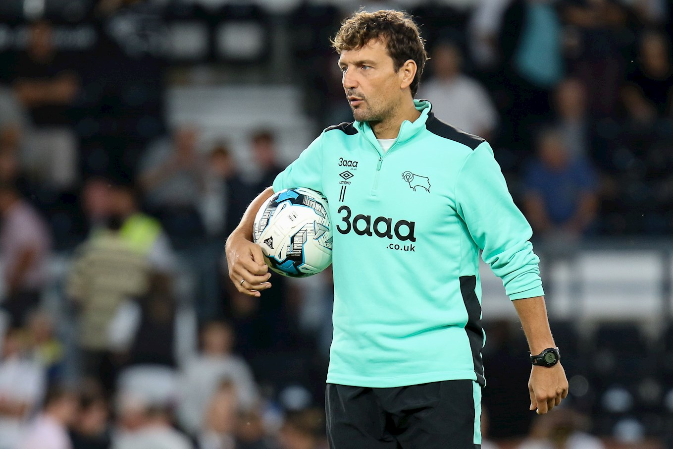 Inigo Idiakez in his previous job as Derby County's first-team coach