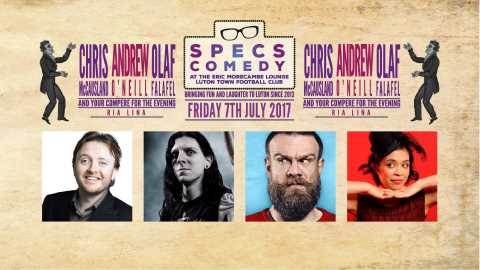 Book now! Specs Comedy - Friday July 7th