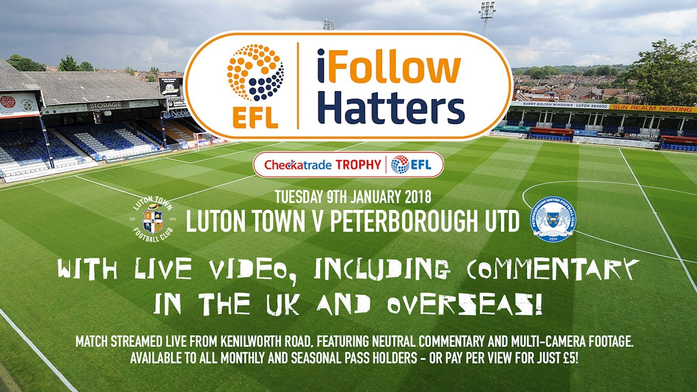 PETERBOROUGH TROPHY TIE AVAILABLE ON LIVE STREAM IN THE UK