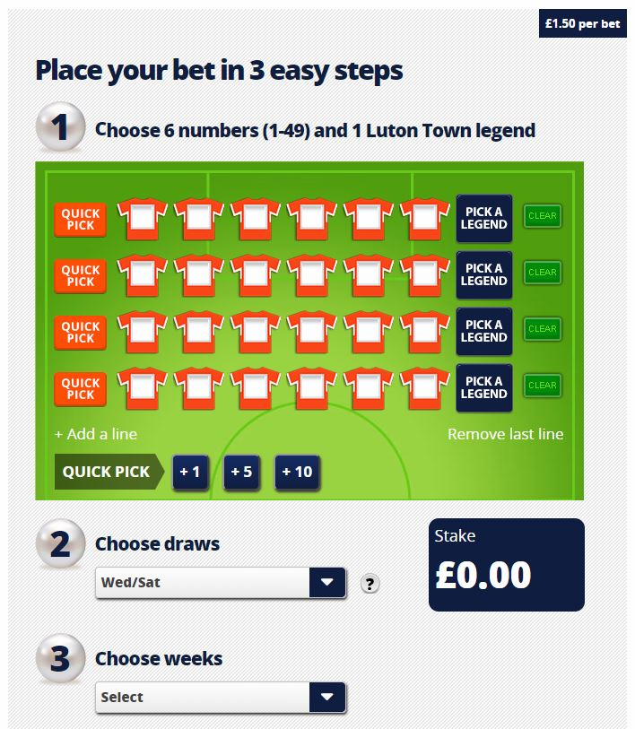 How to play Luton Lotto