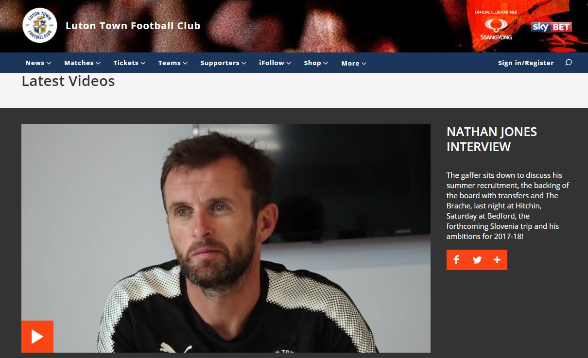 Nathan Jones sits down for an exclusive iFollow Hatters interview