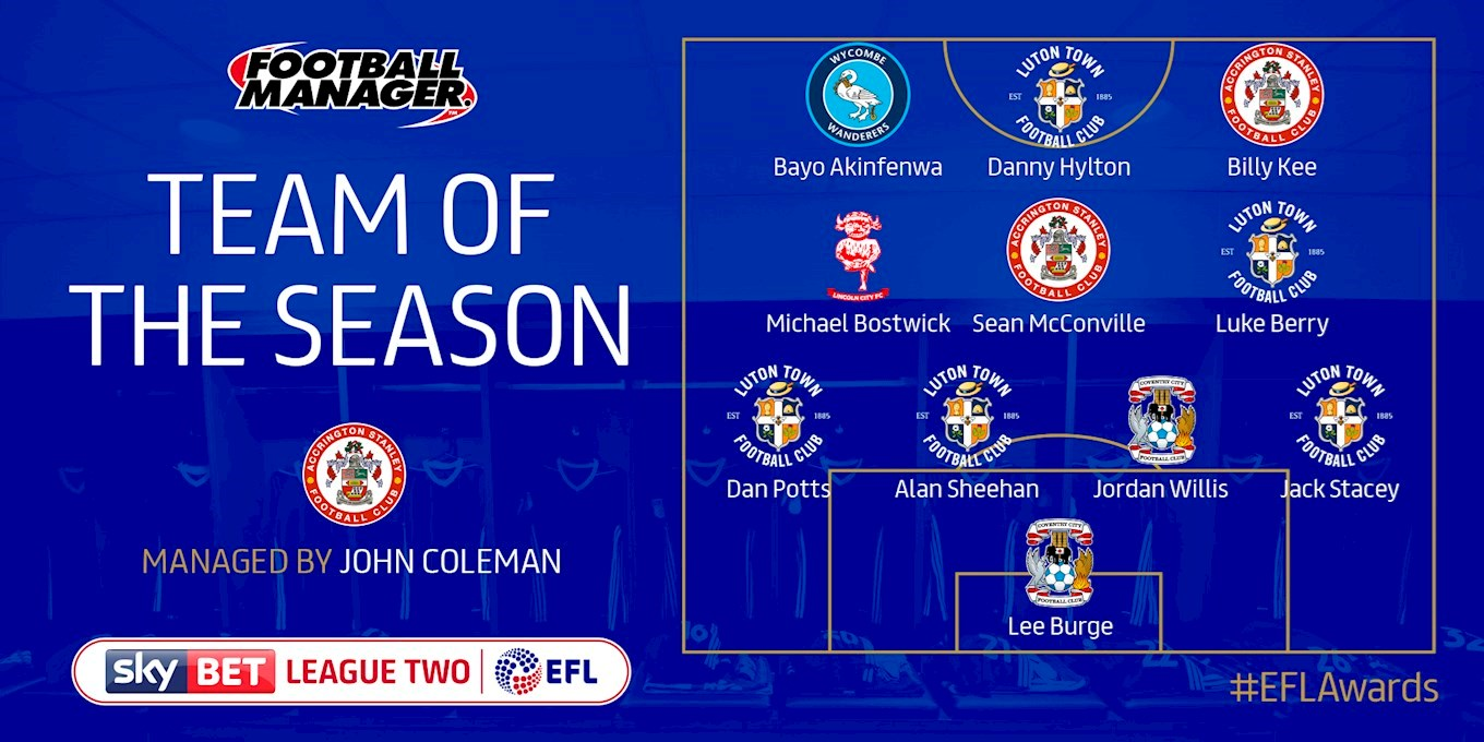 efl awards 2018 five town players named in team of the season