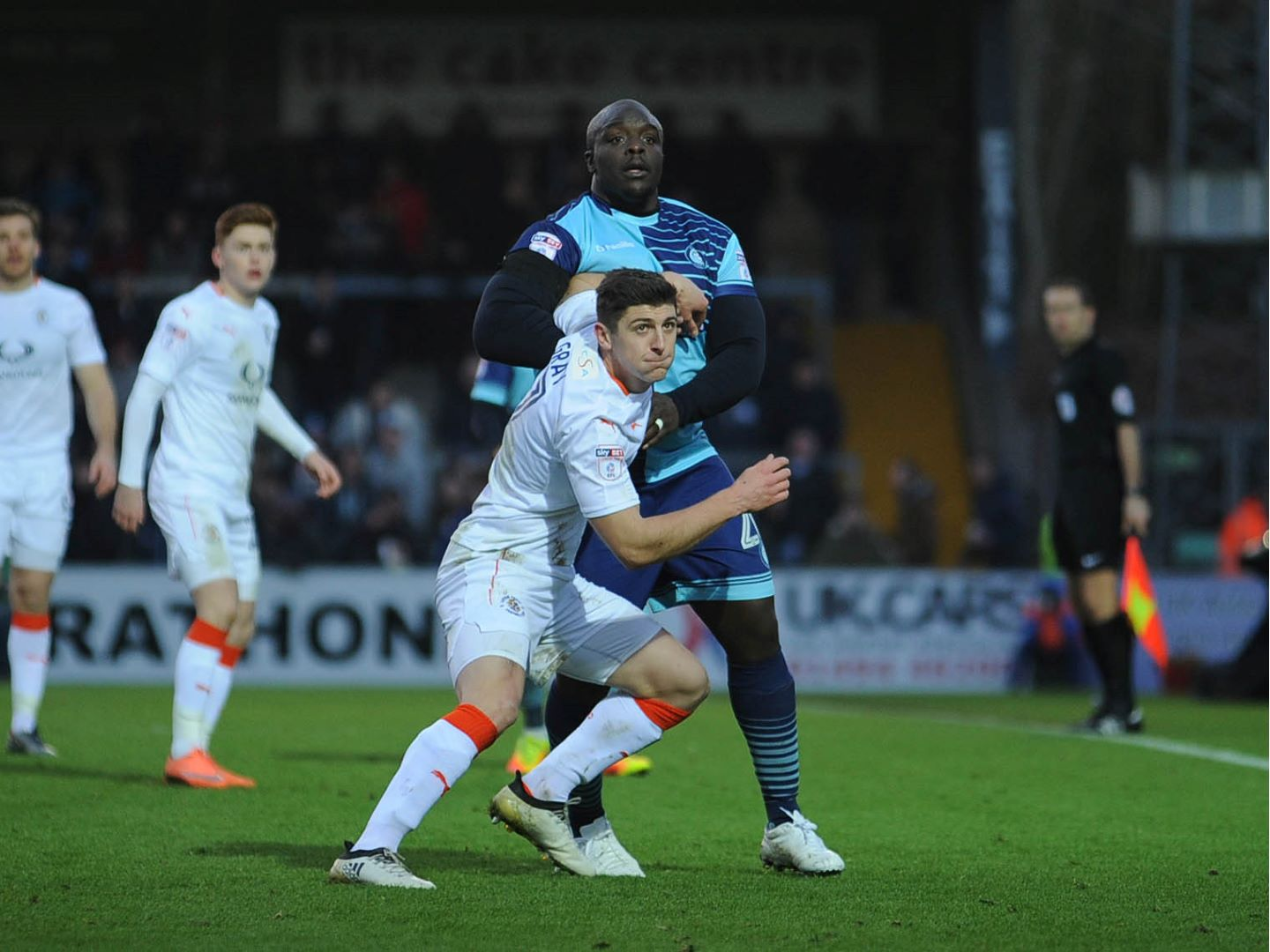 Jake Gray came up against Wycombe's Adebayo Akinfenwa in one of his 11 starts
