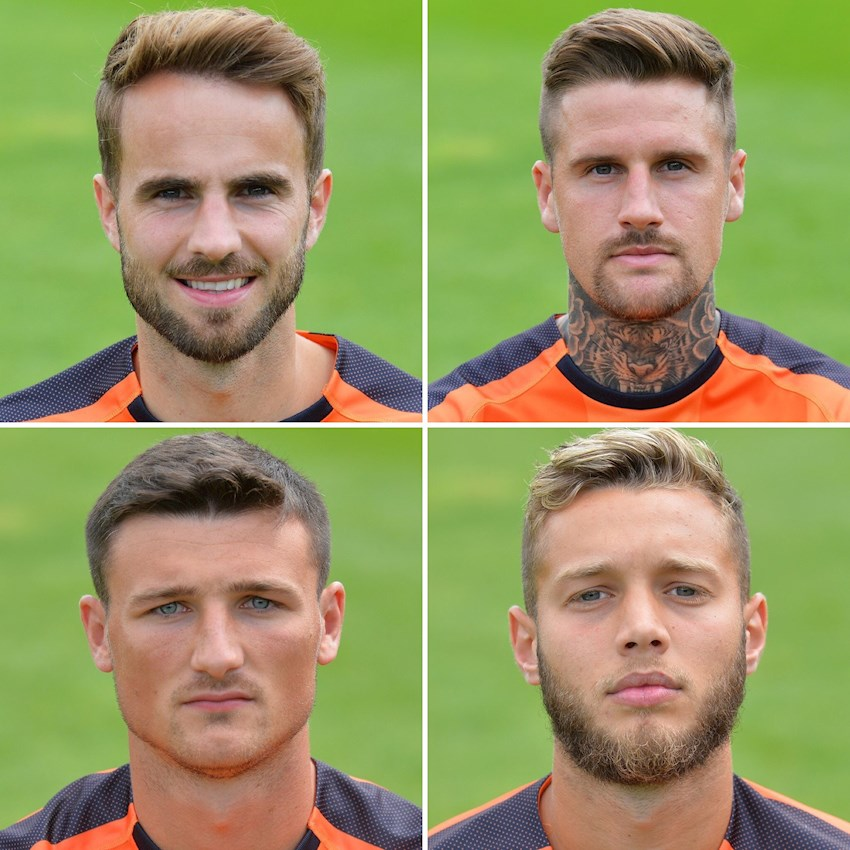 The Hatters' four summer signings: Andrew Shinnie, Sonny Bradley, Matty Pearson and Jorge Grant