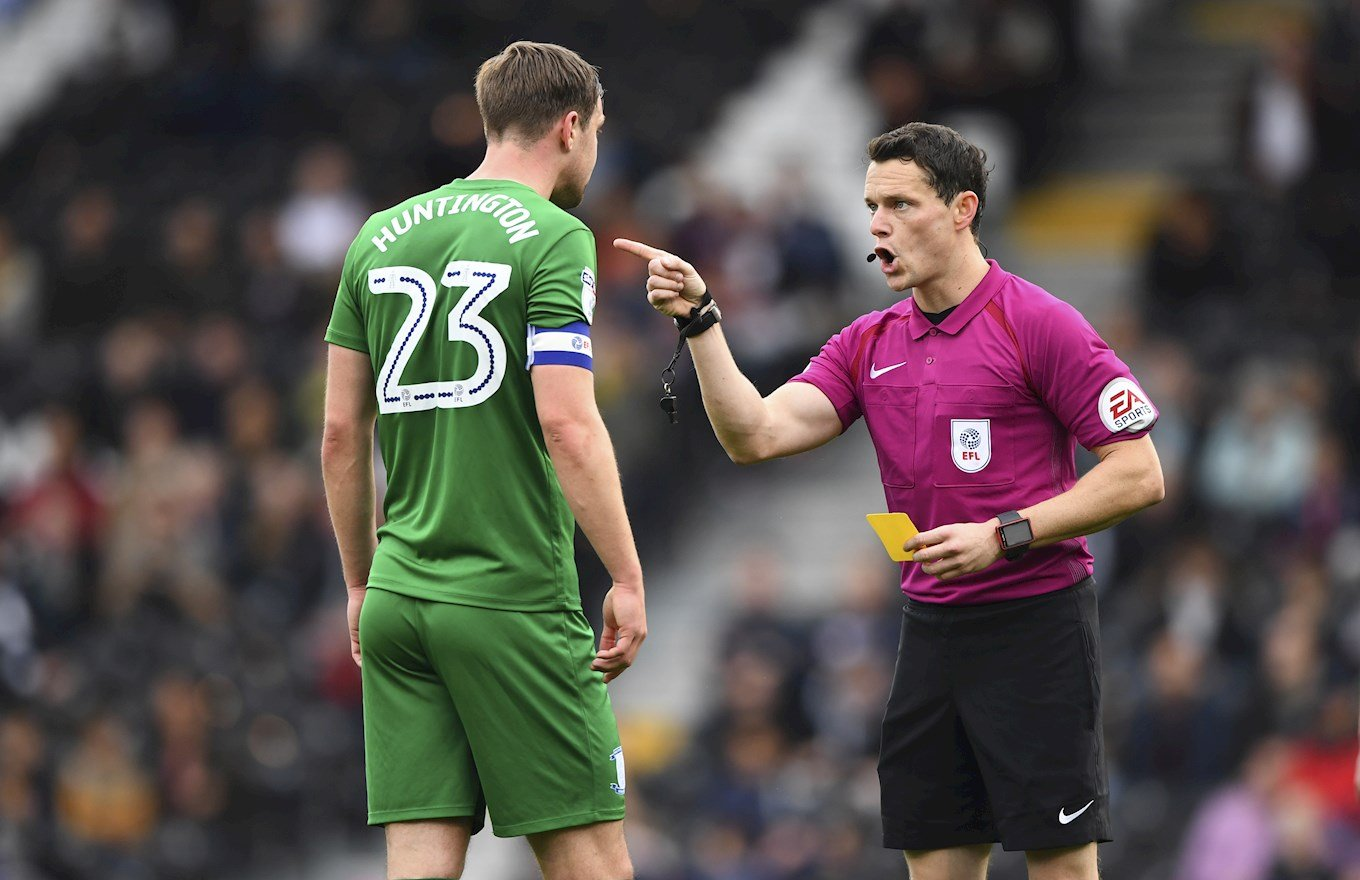 Darren England will take charge of the Hatters' game at Wycombe