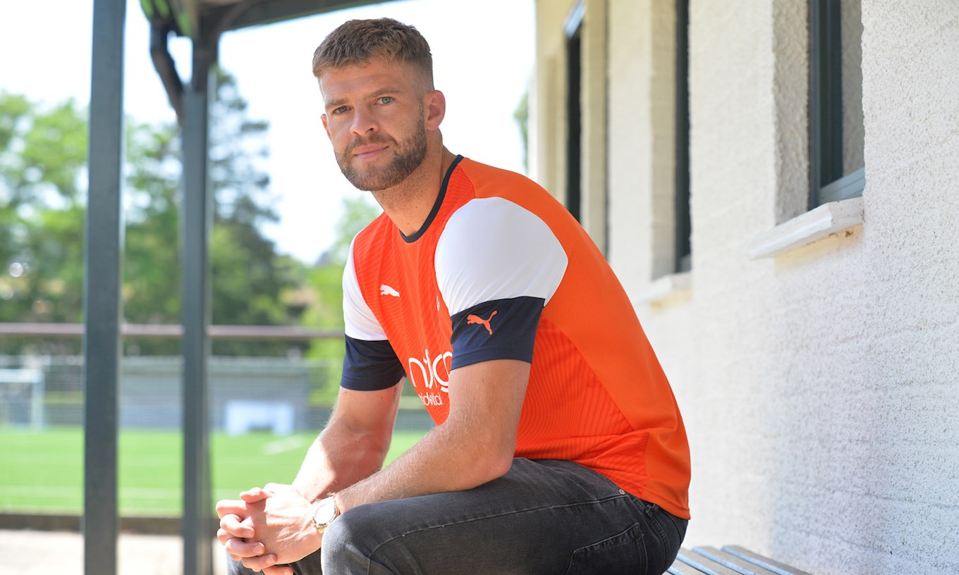 New Hatters signing Martin Cranie takes in his new surroundings at The Brache