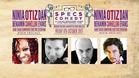 Book now! Specs Comedy - October 6th