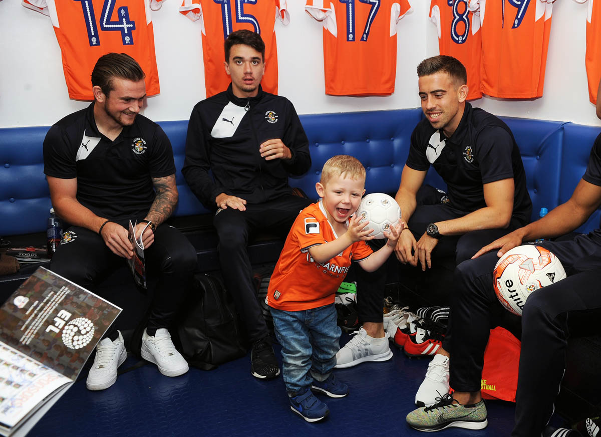 Players meet a young supporter